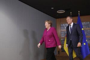 Nemecká kancelárka Angela Merkelová a predseda Európskej rady Donald Tusk.