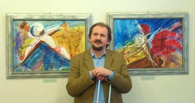 Martin Vais na vernisáži výstavy.