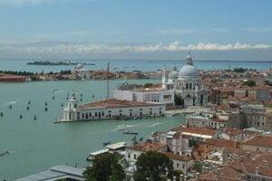 Výhľad z Campanilo di San Marco, Benátky.