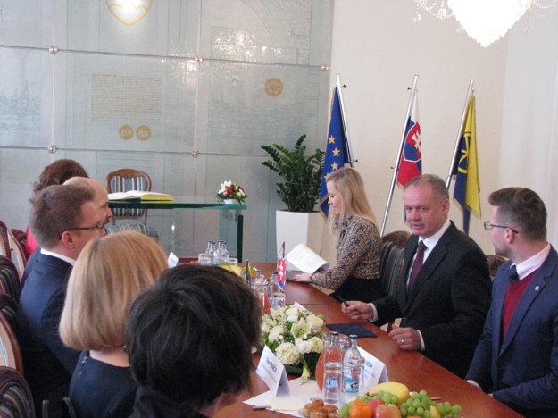 Prezident sa  stretol s  vedením mesta.