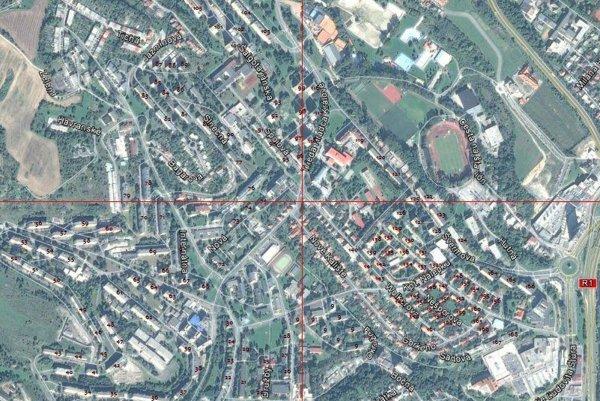 Mapa bytových domov.