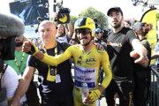 Julian Alaphilippe v cieli 13. etapy Tour de France 2019.