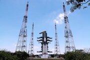 Lunárna prieskumná misia Čandraján-2 krátko pred štartom v pondelok.