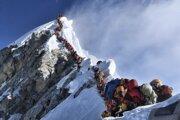 Čakanie v rade na vrchol Mt. Everestu 22. mája tohto roku.