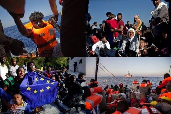 Ilustračné foto - migranti.