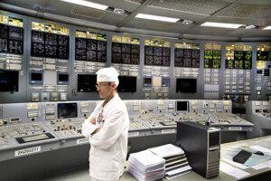 Technik v riadiacom centre Ignalijskej jadrovej elektrárne na severovýchode Litvy.