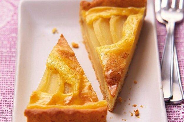 Krehký hruškovo-jablkový koláč