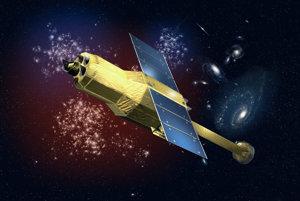 Vizualizácia satelitu Hitomi od umelca Akihiro Ikešitu.