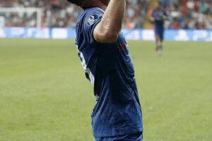 Olivier Giroud po strelenom góle v Superpohári UEFA 2019 FC Liverpool - Chelsea Londýn.