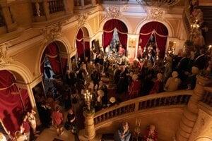 Nakrúcanie v Mahenovom divadle v Brne.