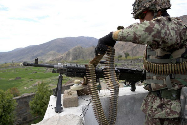 Americký vojak v Afganistane.