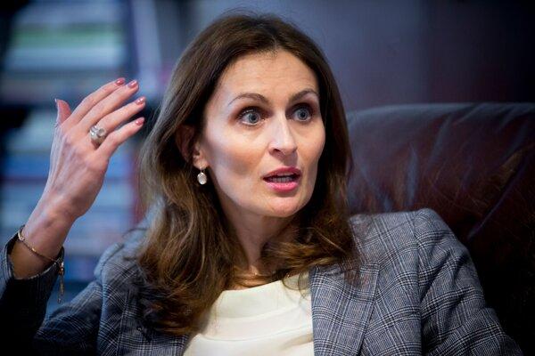 Ministerka zdravotníctva Andrea Kalavská.