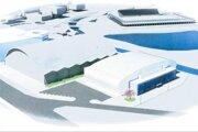 Vizualízácia novej tréningovej hokejovej haly pre mládež v Poprade.