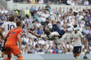 Momentka zo zápasu Tottenham - Newcastle.