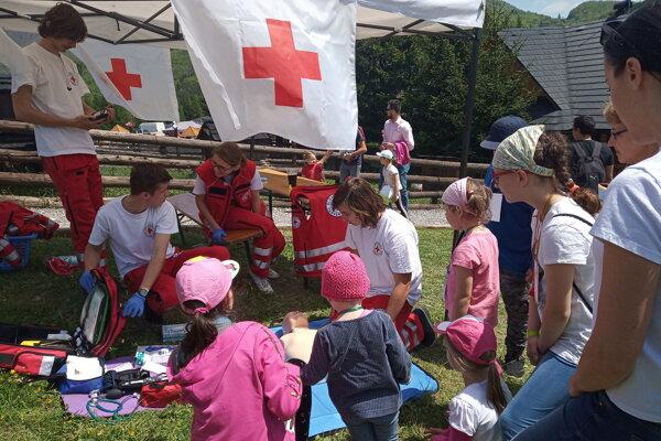 Slovenský Červený kríž robí okrem iného aj osvetu v podávaní prvej pomoci.