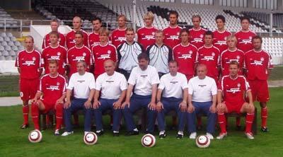 káder futbalistov as trenčín, ktorý bude reprezentovať krajskú metropolu na strednom považí v novom ročníku 2004/05 v najvyššej slovenskej súťaži. dolný rad zľava: martin škrtel, jozef hollý (ved. mužstva), jaroslav machač (tréner brankárov), anton jánoš (tréner), jaroslav jurkovič (asistent trénera), jozef novák (masér), michal kubala. stredný rad zľava: marek seman, juraj križko, ivan lietava, csaba horváth, miloš buchta, miloš volešák, pavol šuhaj, stanislav velický, milan mičenec, vladimír majsniar. horný rad zľava: róbert hanko, slavomír lukáč, jaroslav kamenský, ondrej šmelko, jozef poštrk, ladislav palša, lukáš hricov, roman chomistek, gejza baranyai.