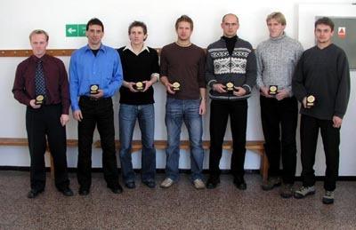 sedmička hráčov si prevzali ocenenie osobne.