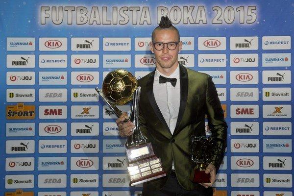Marek Hamšík vyhral tretí raz za sebou anketu Futbalista roka.