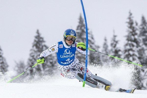 Naše lyžiarky prežívajú úspešnú sezónu a po každom slalome sa záujem o vstupenky zvyšuje, tvrdí predseda organizačného výboru. Veronika Velez-Zuzulová (na snímke) vyhrala posledné dva slalomy Svetového pohára.