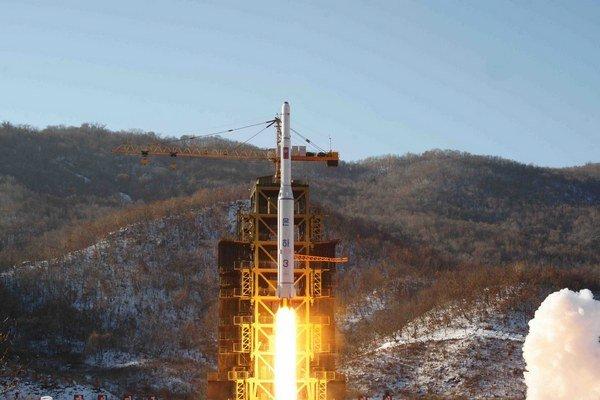 Štart severokórejského satelitu.