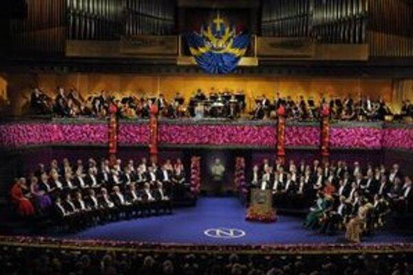 Slávnostné udeľovanie Nobelových cien z roku 2010.
