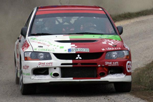 Test Mitsubishi pred súťažou v Košiciach.