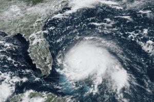 Satelitná snímka hurikánu Dorian z nedele 1.9.2019.