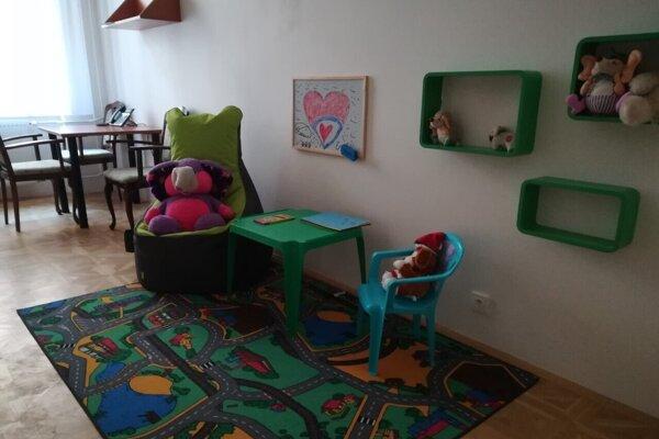 Výsluchová miestnosť pre maloleté deti Krajského súdu Prešov.