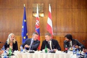 Počas výjazdového rokovania vlády SR v Poltári v septembri 2016.