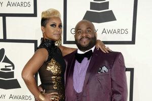 LaShawn Daniels a jeho manželka April.
