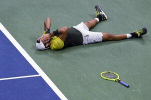 Matteo Berrettini po víťazstve nad Gaelom Monfilsom vo štvrťfinále US Open 2019.