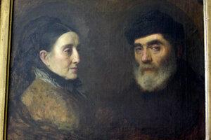 Olejomaľba dvojportrétu rodičov Leopolda Horovitza. Ide o nedokončený obraz zo súkromného majetku potomkov maliara vo Švédsku. Obraz bol maľovaný okolo roku 1865.