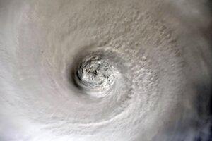 Oko hurikánu Dorian z Medzinárodnej vesmírnej stanice.