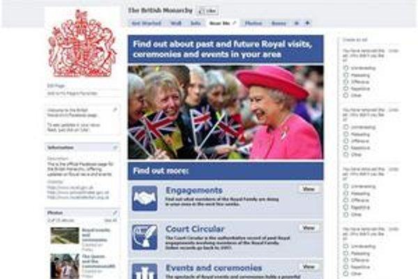 Britská kráľovská rodina získava na sociálnej sieti desaťtisíce fanúšikov denne. Populárna jordánska kráľovná Rania na nej rieši politické problémy aj to, čo mala na obed.