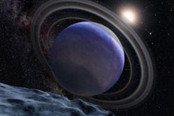 Umelecká vízia planéty v systéme HR 8799.