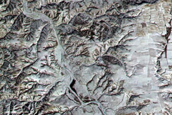 Veľký čínsky múr z vesmíru.