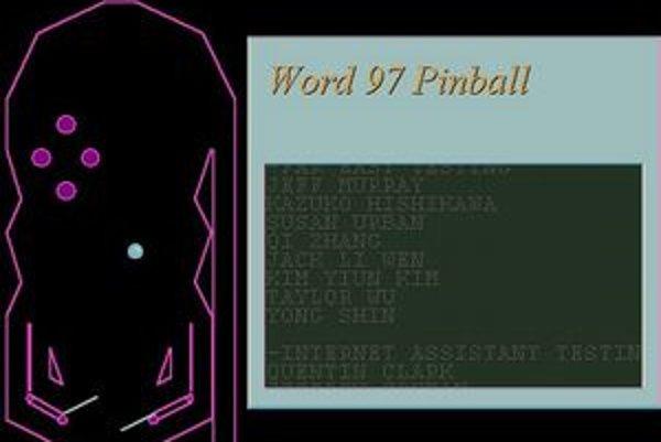 Microsoft Word 97 sa poľahky zmení na zábavnú hru.