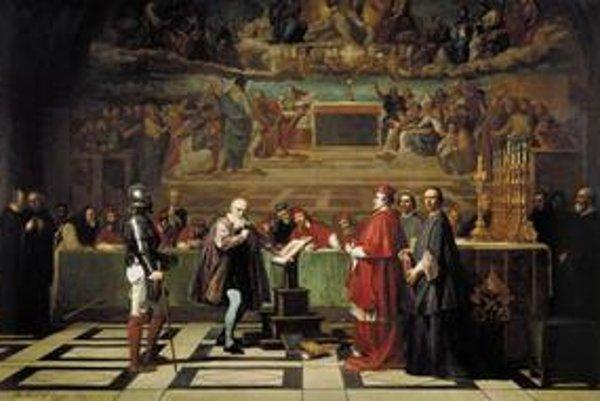 Galileo pred inkvizíciou.