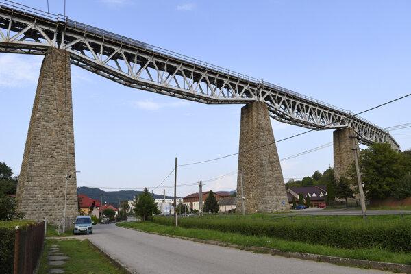 Hanušovský viadukt.