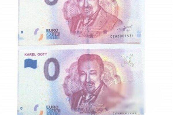 inzerát na neexistujúce bankovky.