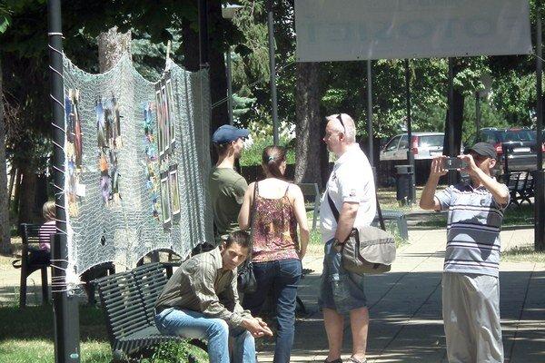 Výstava v mestskom parku.