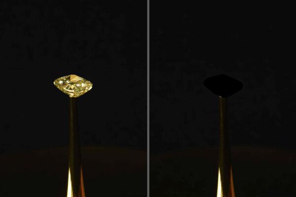 Diamant v hodnote dvoch miliónov amerických dolárov, ktorý potreli novou najčiernejšou čiernou.