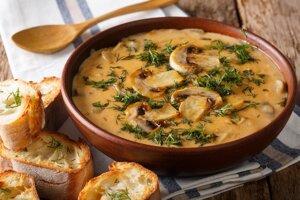 Maďarská hubová polievka.
