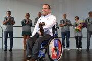 Ocenenie Výnimočný človek v meste Snina si prevzal zlatý paralympionik v boccii Samuel Andrejčík.