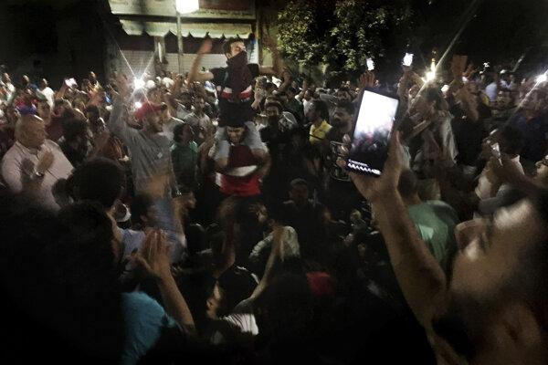 Ilustračná fotografia z egyptských protestov.