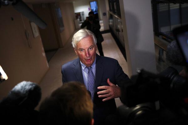 Hlavný vyjednávač EÚ pre brexit Michel Barnier.