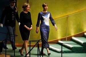 Estónska prezidentka Kersti Kaljulaidová svoj príhovor predniesla oblečená v šatách s vyobrazením mapy Antarktídy.