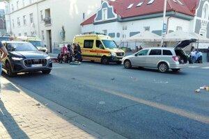 Vážna nehoda na Kollárovej.