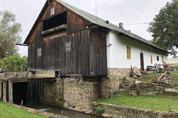 Vodný mlyn zo 17. storočia v obci Krivany.