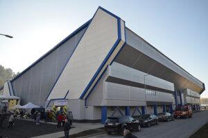 Nový zimný štadión v Kežmarku.